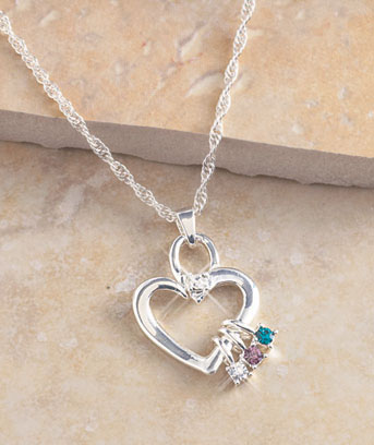 Mother's Birthstone Necklace or Charms