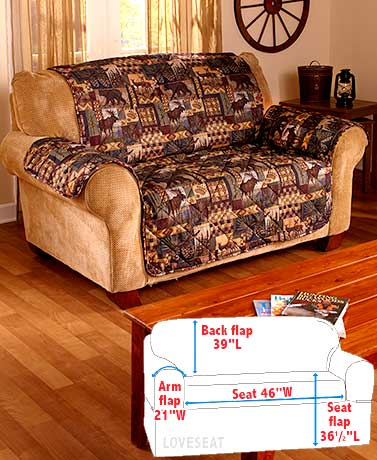 Lodge-Look Loveseat Cover