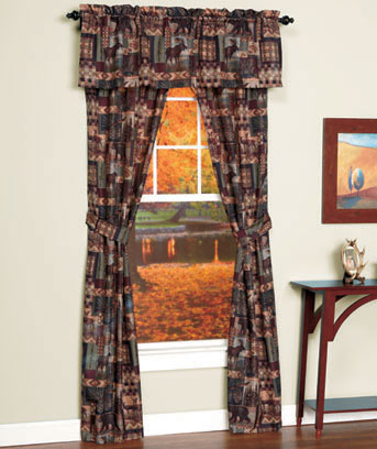 Lodge-Look 5-Pc. Curtain Set