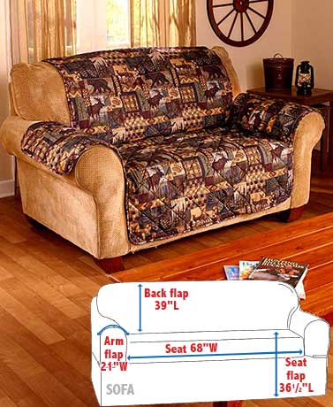Lodge-Look Sofa Cover