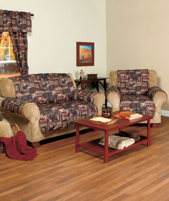 Lodge-Look Curtain Set or Furniture Covers