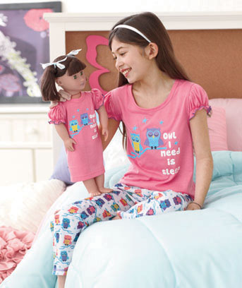 Matching Girl and Doll Pajama Sets