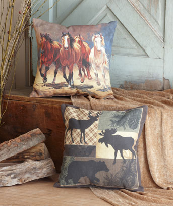"16"" IndoorOutdoor Themed Pillows"