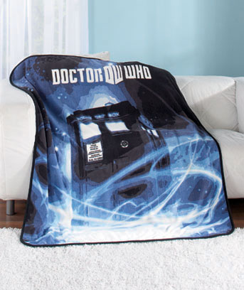 Doctor Who Plush Throw