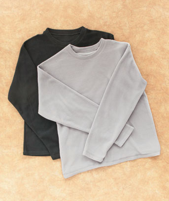 Men's Set of 2 Microfleece Shirts