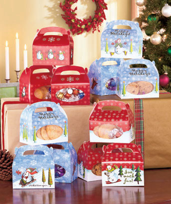 Set of 12 Snowman Treat Boxes