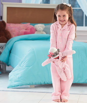 Matching Pajama & Sock Monkey Sets