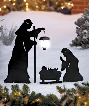 3-Pc. Solar Nativity Silhouette Stake Set