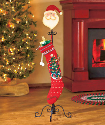 Santa Standing Holiday Stocking Holder