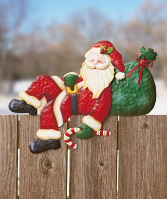 Santa Holiday Fence Topper