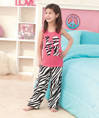 2-Pc. Girls' Plush Fleece Lounge Pant Sets