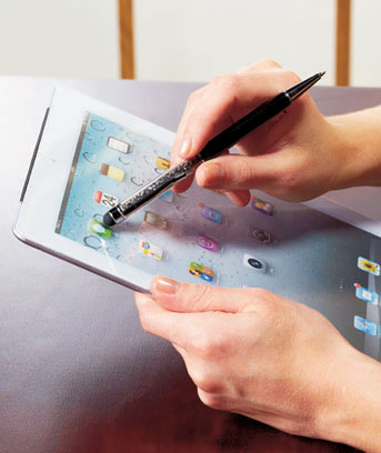 Crystal Pen with Touch Screen Pointer