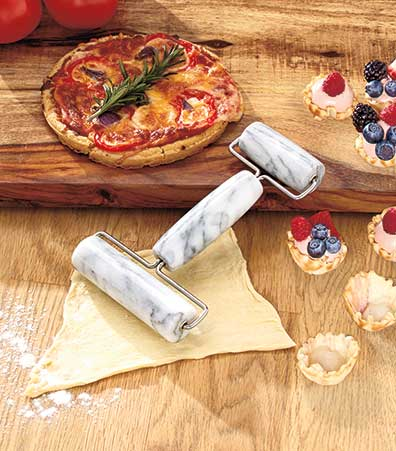 Marble Two-Sided Pastry Rolling Pin