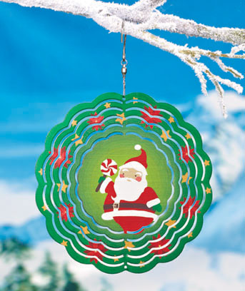 Santa Holiday Windspinner