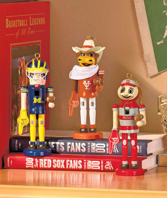 College Mascot Nutcracker Ornaments