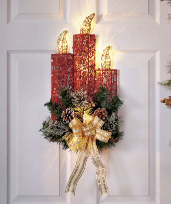 Lighted Holiday Candle Decor