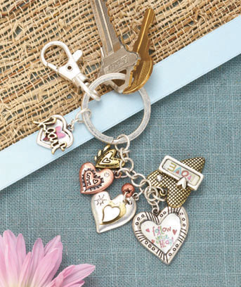 Multi-Charm Inspirational Key Chains
