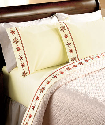 Snowflake Embroidered Sheet Sets