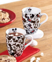 Sets of 2 Disney or Muppets All-Over Mugs - Mickey & Minnie