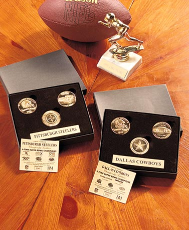 NFL Team Tradition 3-Coin Sets