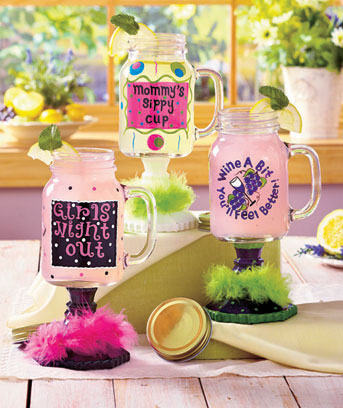 Whimsical Mason Jar Mugs