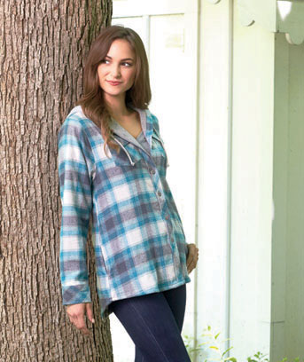 Women's Hooded Lined Flannel Jackets