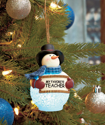 LED Lighted Snowman Ornaments