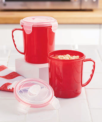 Set of 2 Meals on the Run Soup Mugs