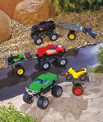 Mighty Monster Truck and Trailer Sets