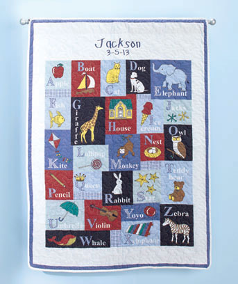 Personalized Alphabet Baby Quilts