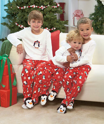 2-Pc. Kids' Penguin Footed Pajamas