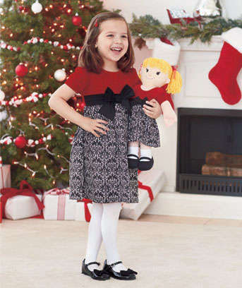 Girls' Matching Dress & Rag Doll Set
