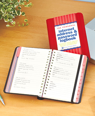 Internet Address & Password Logbooks