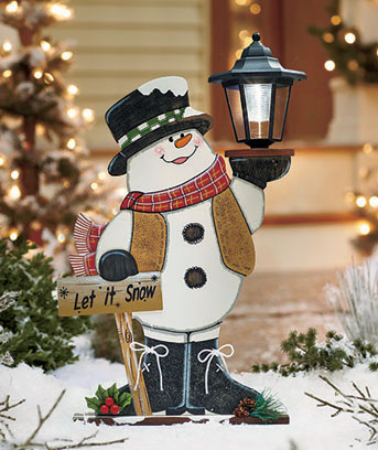 Solar Lighted Holiday Snowman