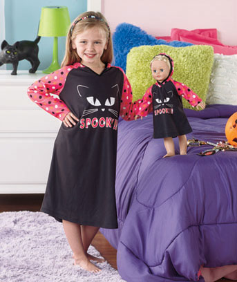 Matching Girl & Doll Hooded Nightgown Sets