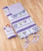 Matching Girl and Doll Sleeping Bags - Butterfly