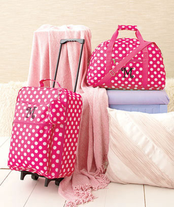 3-Pc. Girls' Monogram Luggage Sets
