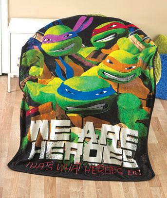 Teenage Mutant Ninja Turtles Licensed Character Plush Fleece Throw