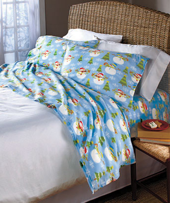 Seasonal Fleece Sheet Sets