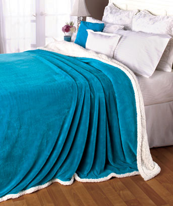 Bright Plush Sherpa Blankets