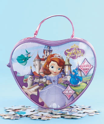 Sofia the First Licensed Carry 'n' Go 3-Puzzle Purse