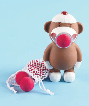 Sock Monkey Character Popper