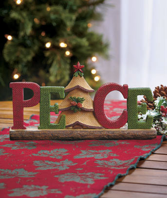 Peace Holiday Sentiment Decor