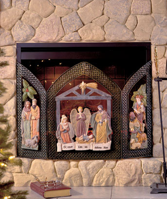 Nativity Fireplace Screen | The Lakeside Collection