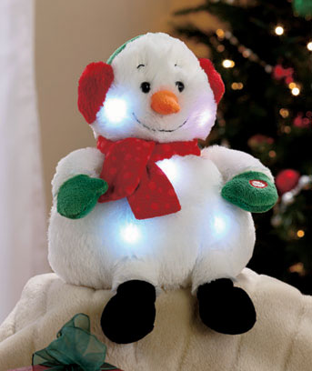Snowman Music and Lights Holiday Plush