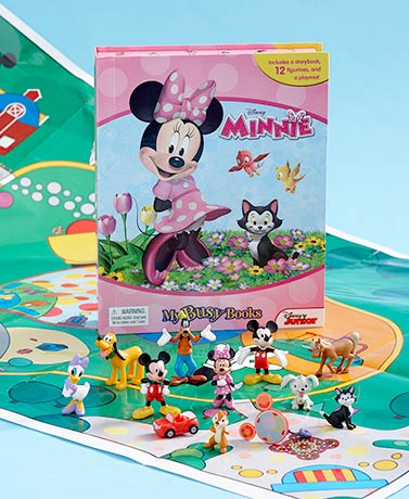 Minnie Mouse Licensed Book And Figure Set