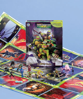 Teenage Mutant Ninja Turtles Licensed Book And Figure Set