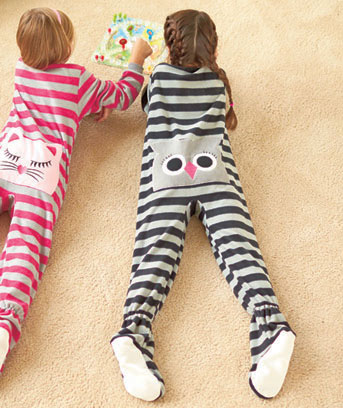 Owl Bottom Footed Pajamas