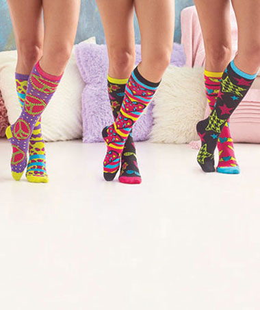 6-Pair Mix or Match Knee Socks
