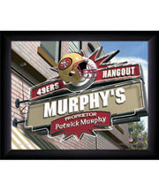 Personalized Framed Sports Pub Print